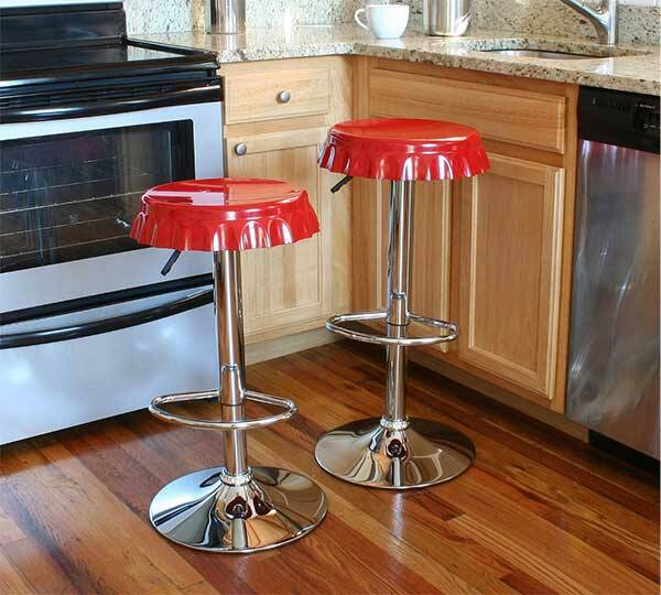 Soda Cap Bar Stools - http://coolthings.us