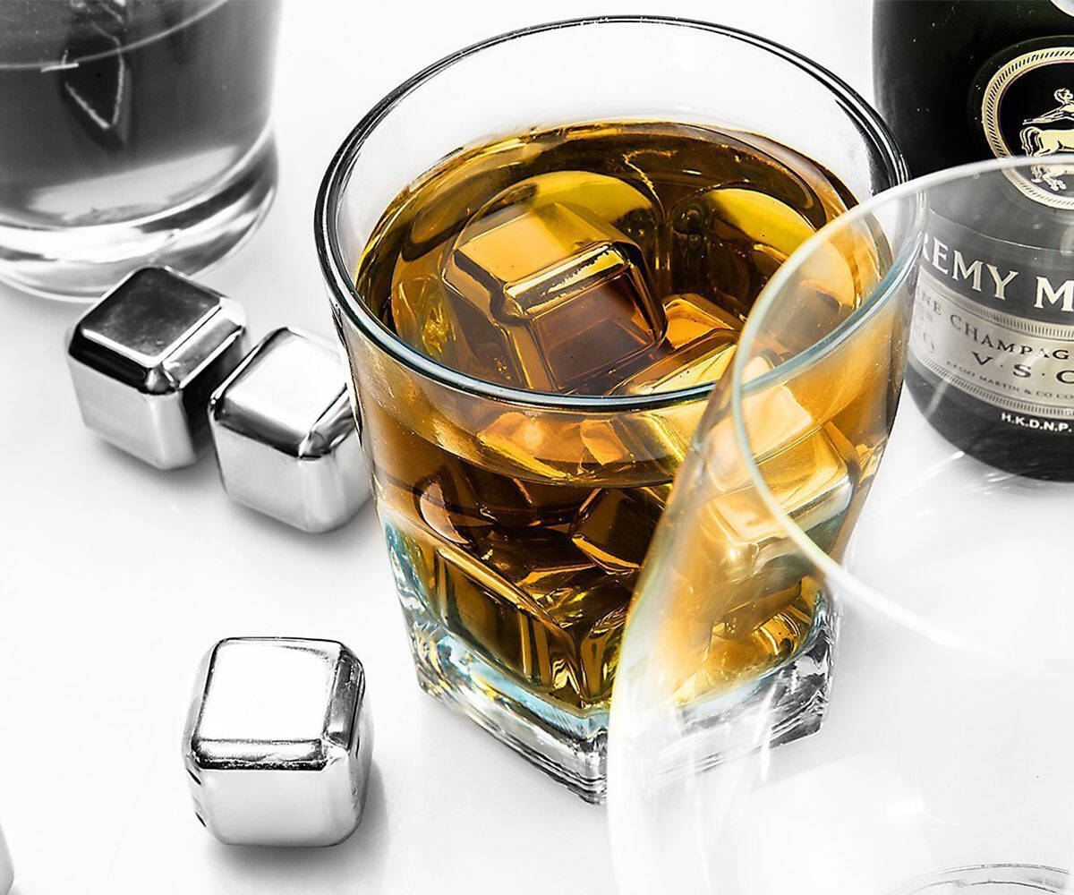 Stainless Steel ICE Cubes Drink Chillers - http://coolthings.us