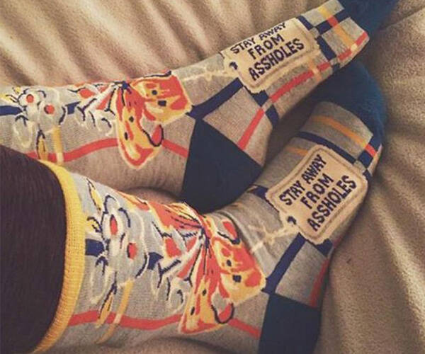 Stay Away From Assholes Socks - http://coolthings.us