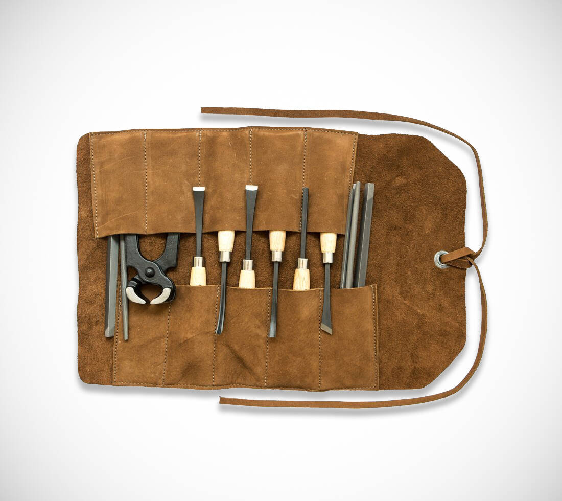 Swayze Suede Tool Roll - http://coolthings.us