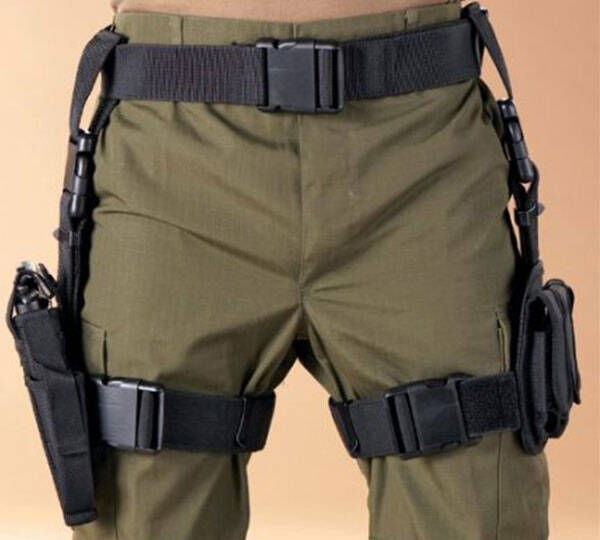 Tactical Holster with Mag Pouches - http://coolthings.us