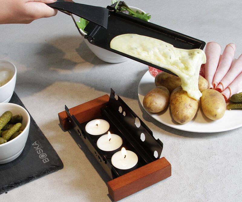 Tealight Candle Cheese Melter - http://coolthings.us