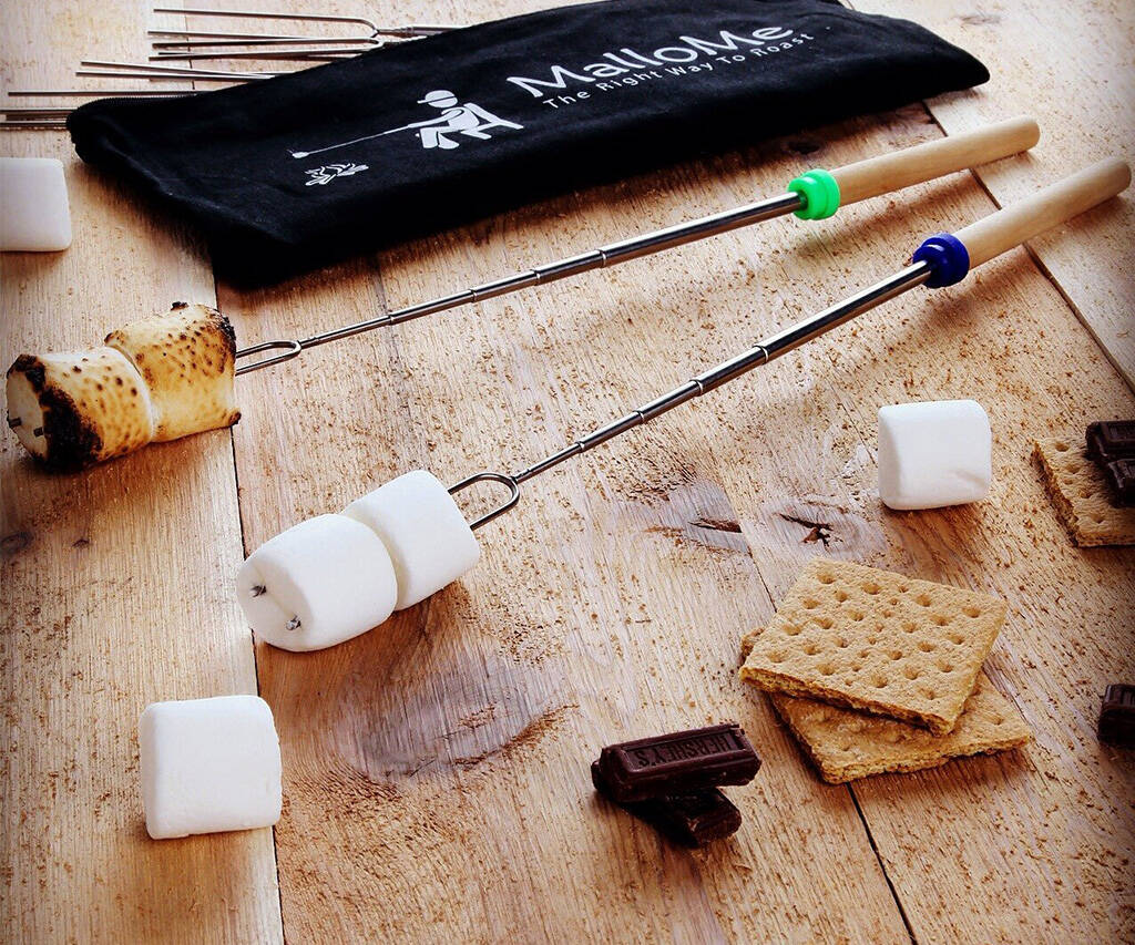 Telescopic Marshmallow Roasting Skewers - http://coolthings.us