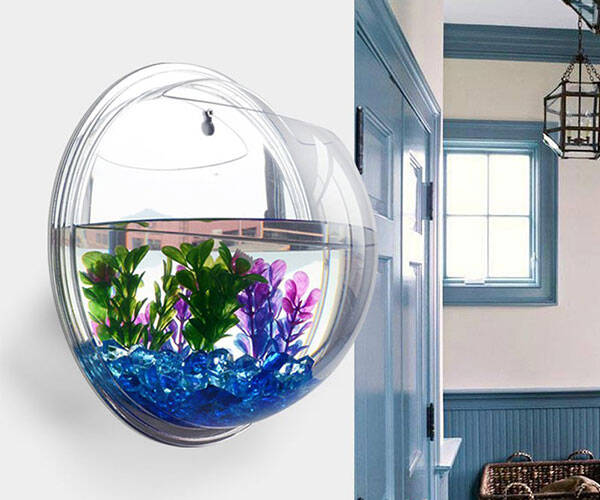 Wall Mount Fish Bubble Aquarium Tank Bowl - http://coolthings.us