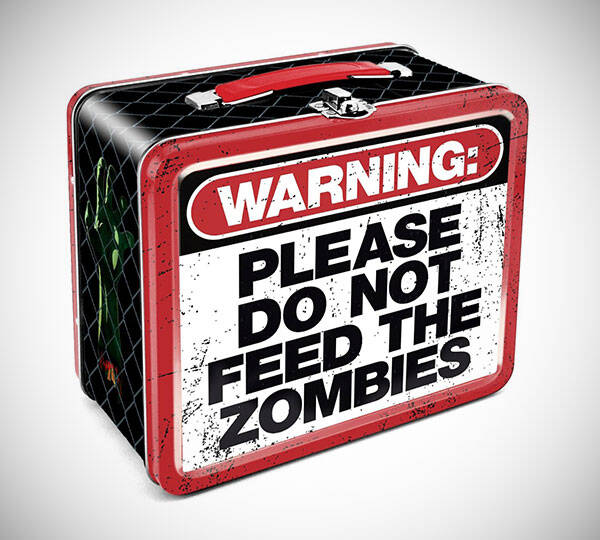 Zombie Warning Lunch Box - http://coolthings.us