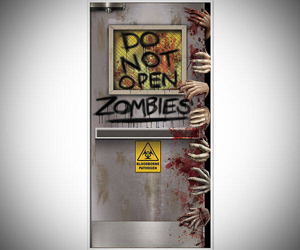 Zombies Lab Door Cover - http://coolthings.us