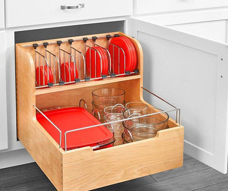Adjustable Pull-Out Container Organizer - http://coolthings.us