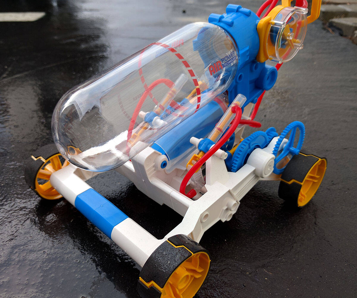 Air Powered Racer Kit - http://coolthings.us