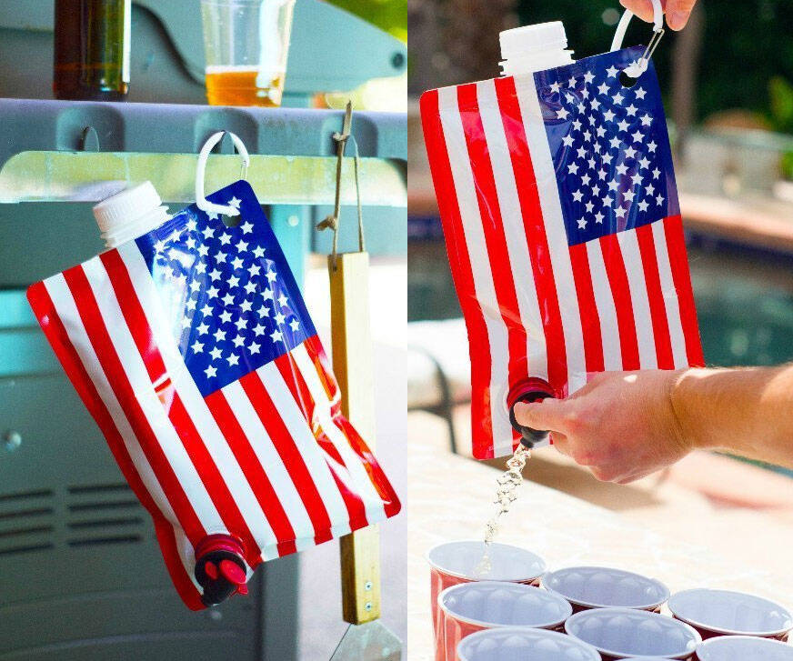 American Flag Liquor Flask - http://coolthings.us