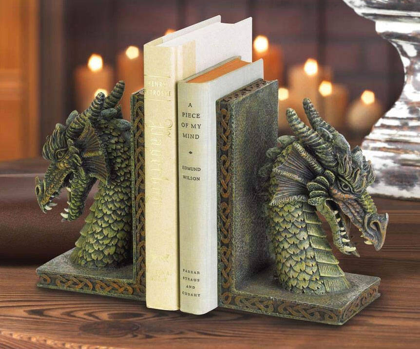 Dragon Bookends - http://coolthings.us