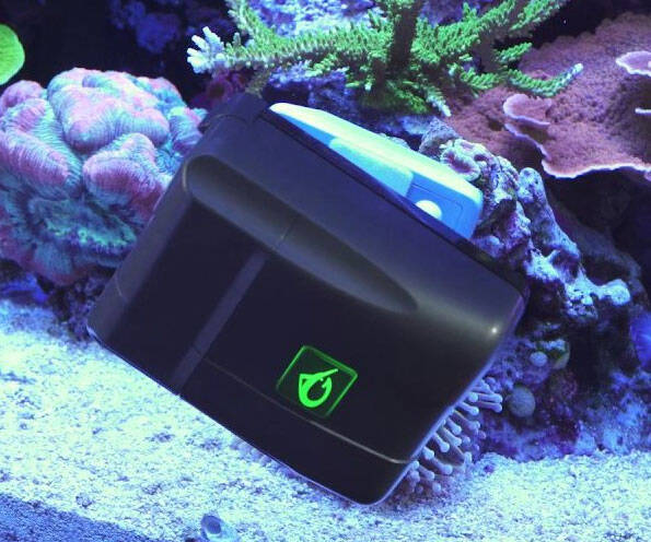 Automatic Aquarium Glass Cleaner - http://coolthings.us