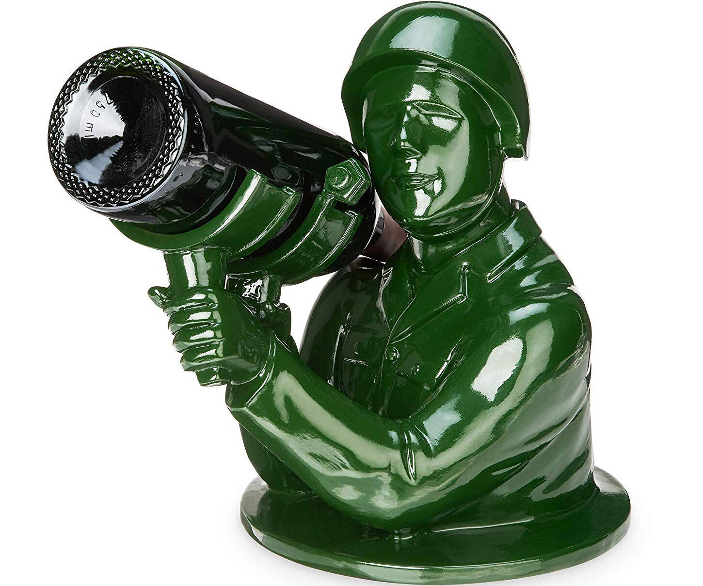 Army Man Bazooka Wine Bottle Holder - http://coolthings.us