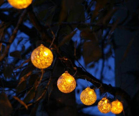 Solar Powered String Lights - http://coolthings.us