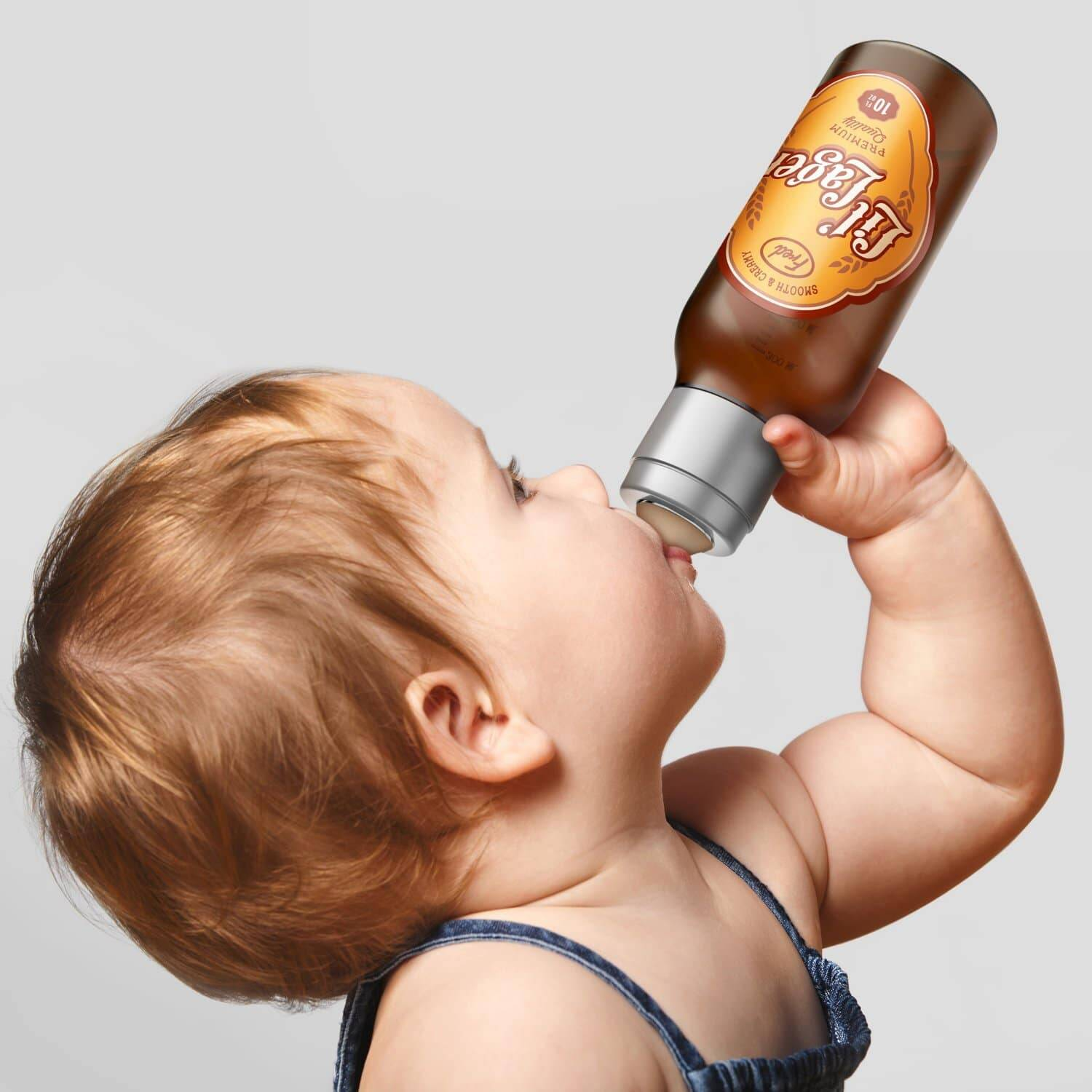 Beer Bottle Style Baby Bottle - http://coolthings.us