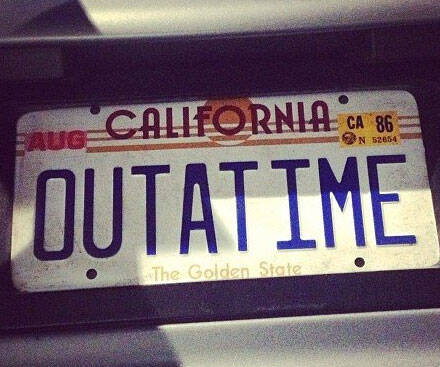 Back To The Future License Plate - http://coolthings.us