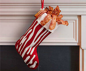 Bacon Stocking - http://coolthings.us