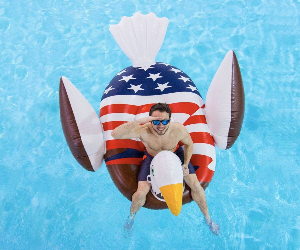 Bald Eagle Pool Float - http://coolthings.us