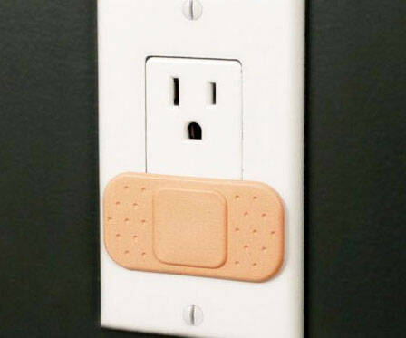 Bandage Outlet Cover - http://coolthings.us