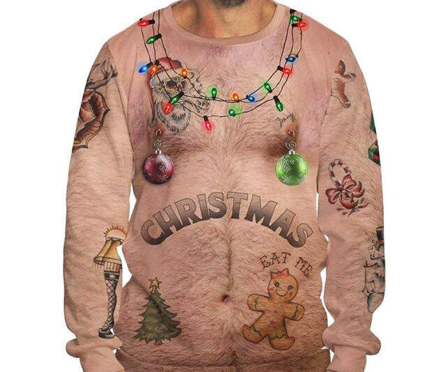 Bare Chest Ugly Christmas Sweater - http://coolthings.us