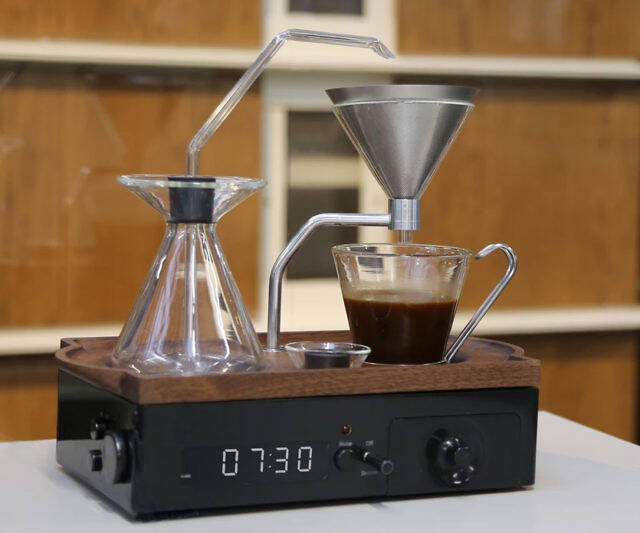 Coffee Brewing Alarm Clock - http://coolthings.us