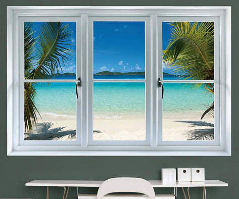 Beach Window Sticker - coolthings.us