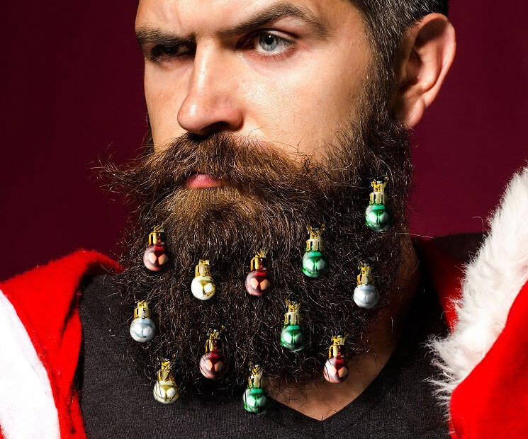 Beard Christmas Ornaments - http://coolthings.us