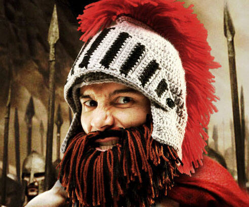Bearded Barbarian Knight Hat - http://coolthings.us