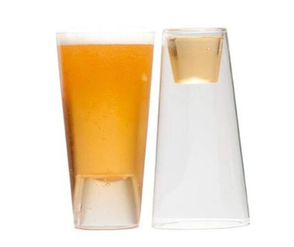 Beer & Shot Glass - http://coolthings.us