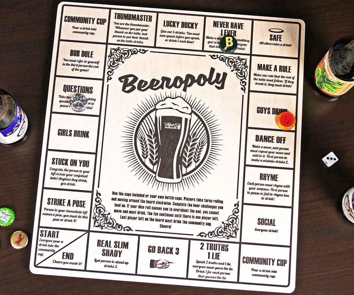 Beeropoly Beer Drinking Board Game - http://coolthings.us