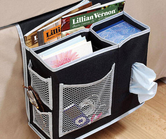 Bedside Storage Caddy - http://coolthings.us