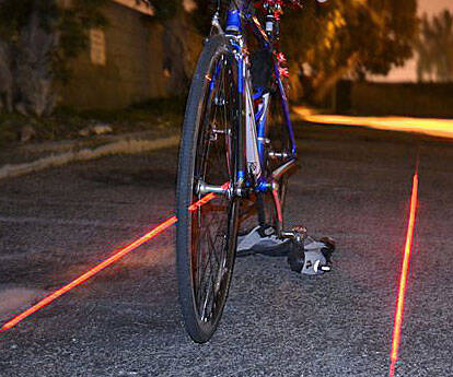 Virtual Bicycle Safety Lane - http://coolthings.us