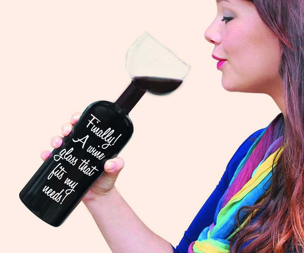 The Ultimate Wine Bottle Glass - http://coolthings.us