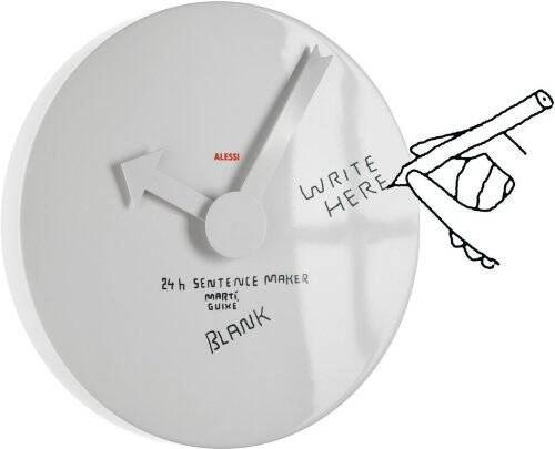 Blank Whiteboard Wall Clock - http://coolthings.us