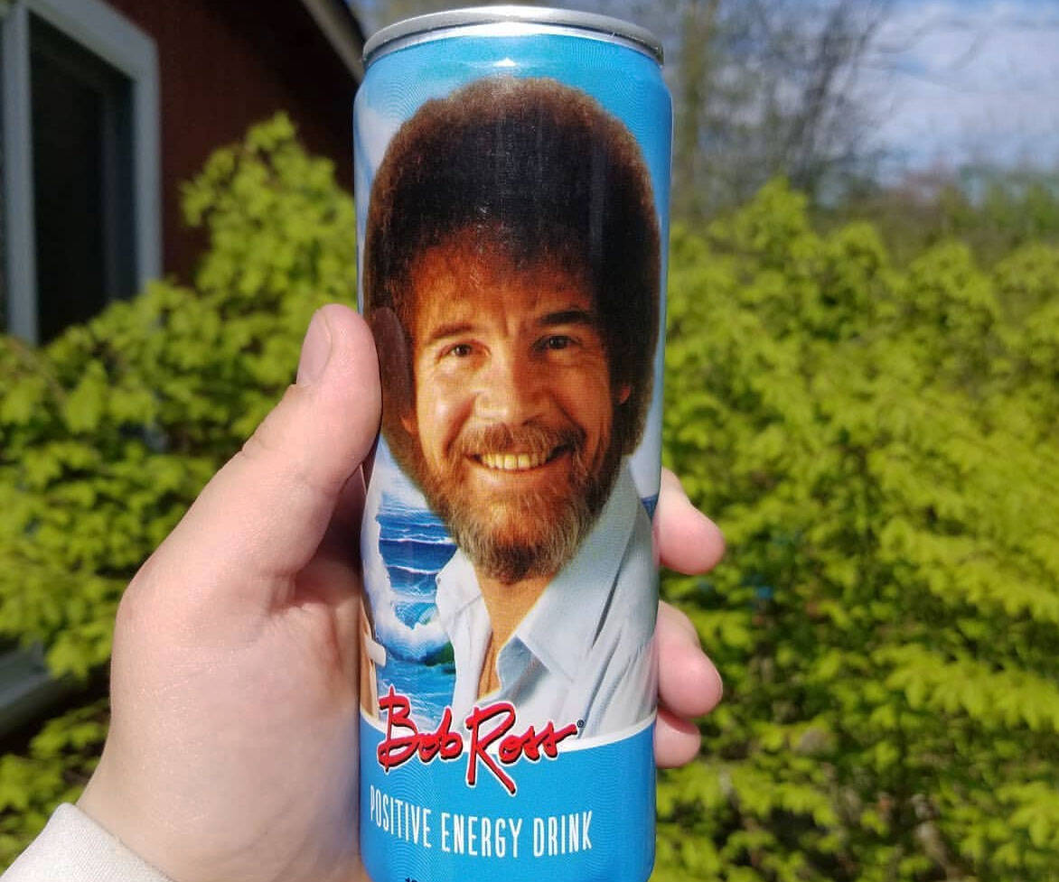Bob Ross Positive Energy Drink - http://coolthings.us