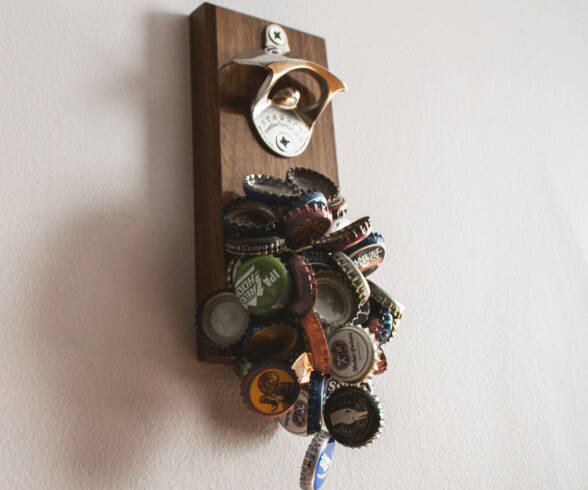 Magnetic Bottle Opener And Catcher - http://coolthings.us