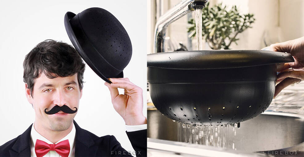 Bowler Hat Colander - http://coolthings.us
