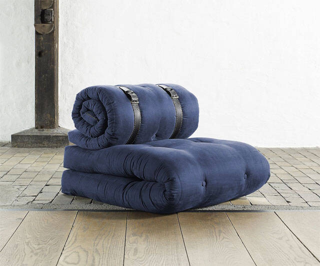 Buckel Up Belted Futon/Chair - http://coolthings.us