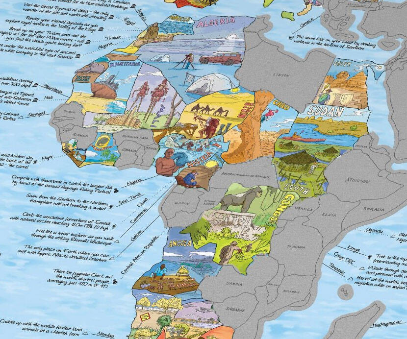 Bucket List Scratch Off World Map - http://coolthings.us