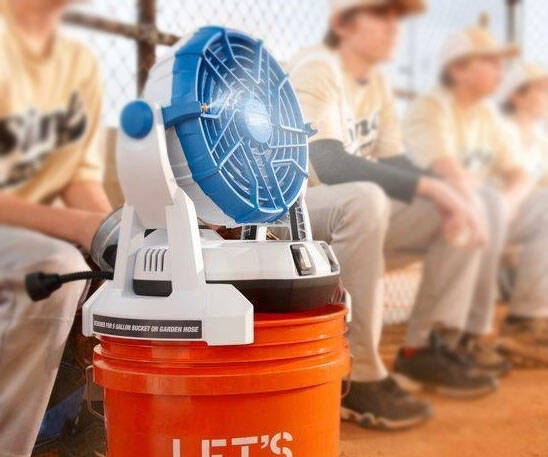 Bucket Top Misting Fan