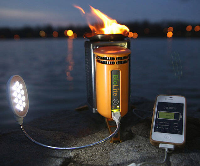Camp Stove Power Charger - http://coolthings.us