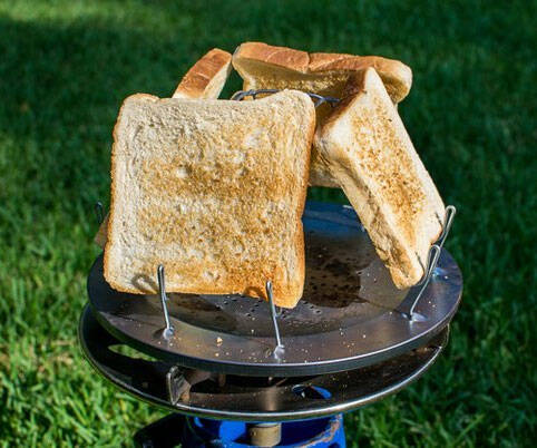Camp Stove Toaster - http://coolthings.us