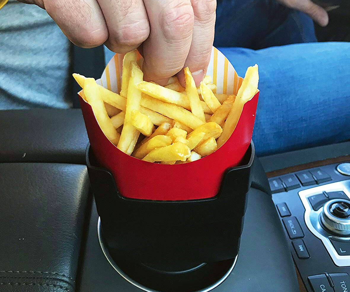 Car French Fry Holder - http://coolthings.us