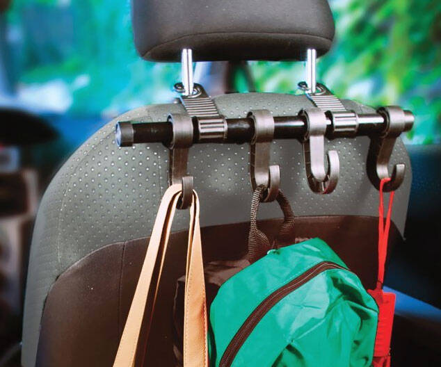 Car Headrest Hangers - http://coolthings.us