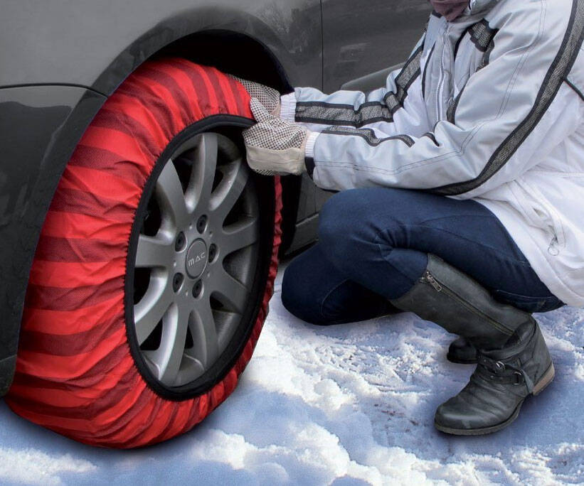 Snow Traction Tire Socks - http://coolthings.us