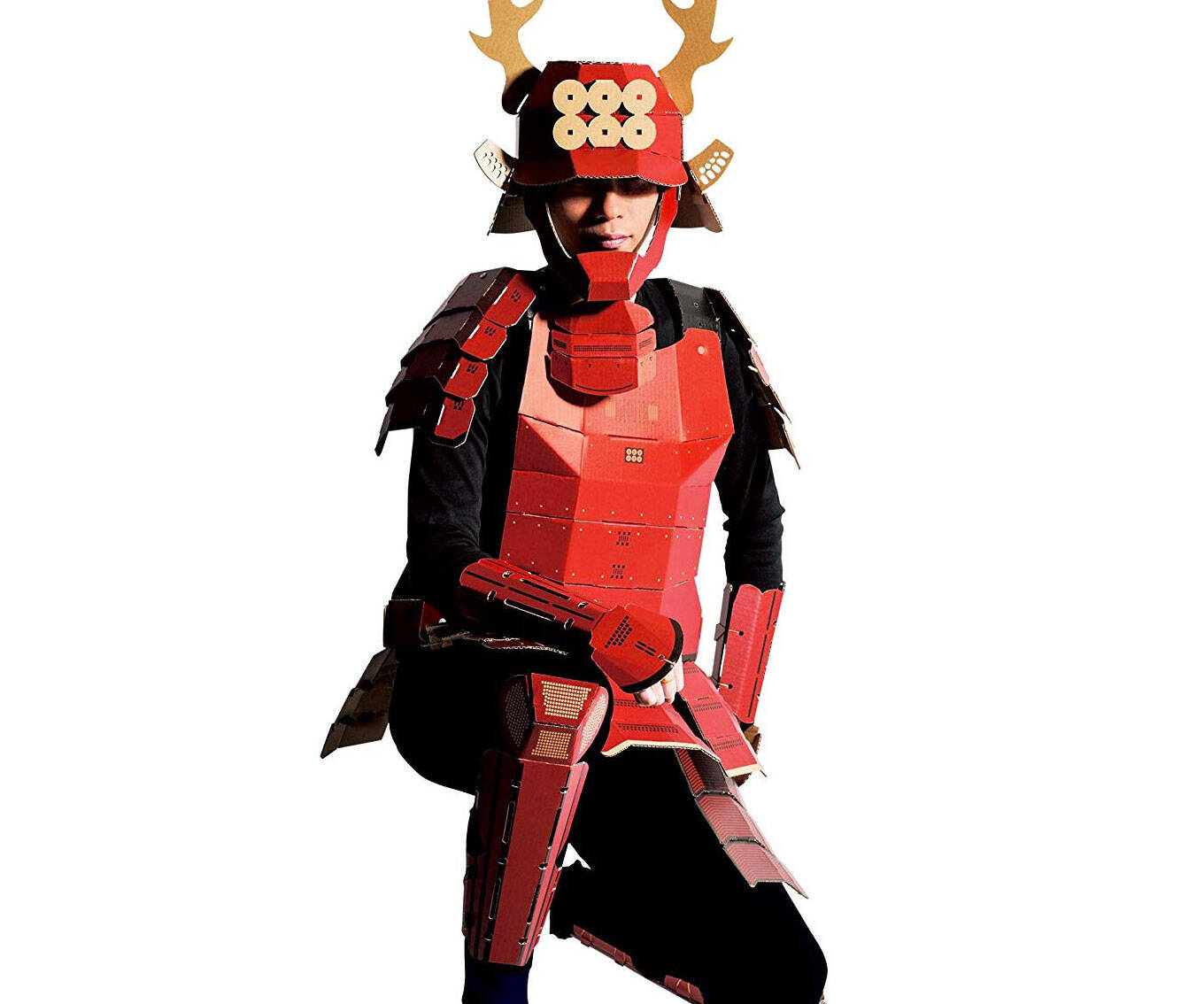 Cardboard Samurai Costume - http://coolthings.us