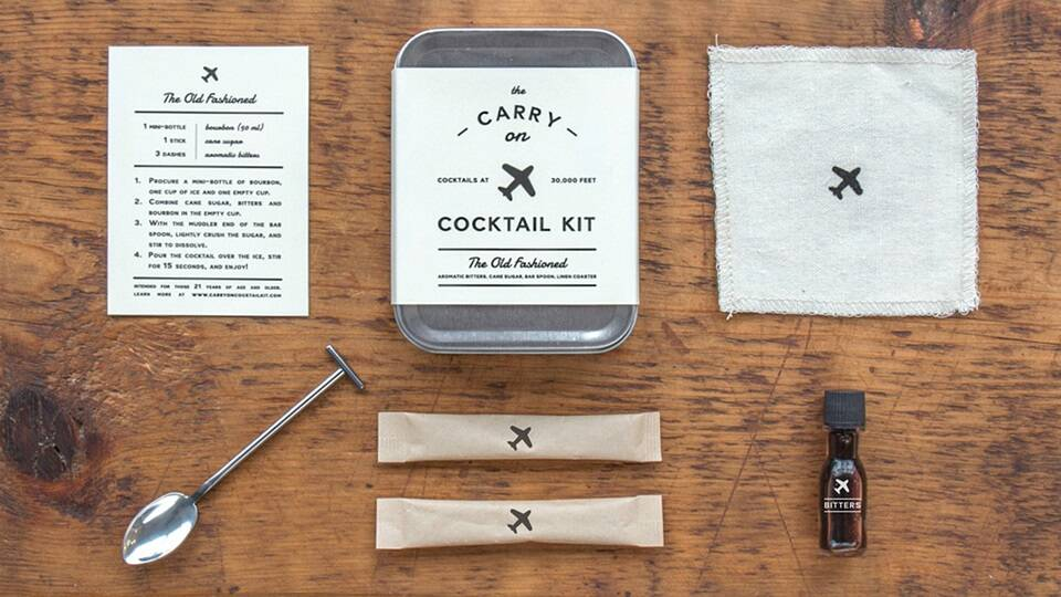 Carry-On Cocktail Kit: Old Fashioned - http://coolthings.us