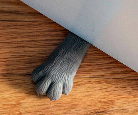 Cat Paw Doorstop - http://coolthings.us
