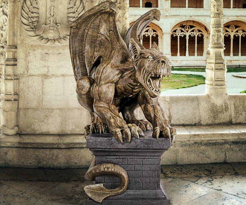 Cathedral Gothic Gargoyle Statue - http://coolthings.us