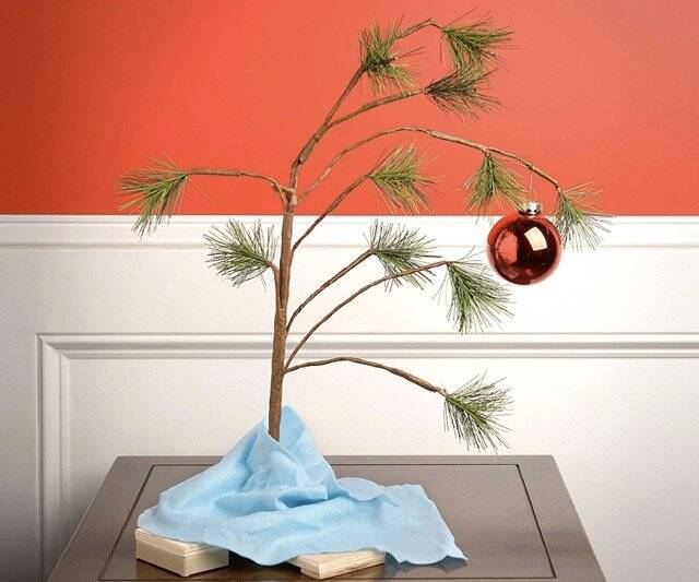 Charlie Brown Christmas Tree - http://coolthings.us
