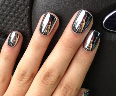 Chrome Stick-on Nails - http://coolthings.us